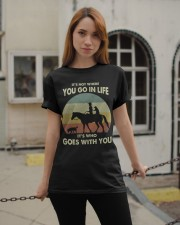 it's not where you go in life  Classic T-Shirt apparel-classic-tshirt-lifestyle-19