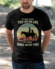 it's not where you go in life  Classic T-Shirt apparel-classic-tshirt-lifestyle-front-50