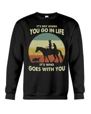 it's not where you go in life  Crewneck Sweatshirt thumbnail