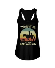 it's not where you go in life  Ladies Flowy Tank thumbnail