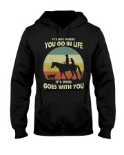 it's not where you go in life  Hooded Sweatshirt thumbnail