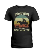 it's not where you go in life  Ladies T-Shirt thumbnail