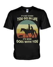 it's not where you go in life  V-Neck T-Shirt thumbnail