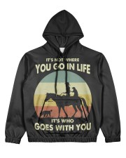 it's not where you go in life  Women's All Over Print Hoodie thumbnail