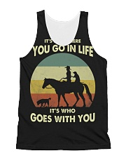 it's not where you go in life  All-over Unisex Tank thumbnail