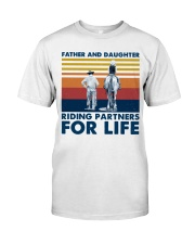 Father And Daughter Riding Partners For Life Classic T-Shirt thumbnail