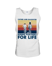 Father And Daughter Riding Partners For Life Unisex Tank thumbnail