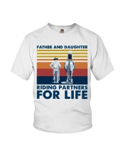 Father And Daughter Riding Partners For Life Youth T-Shirt tile