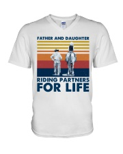 Father And Daughter Riding Partners For Life V-Neck T-Shirt thumbnail