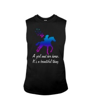 A girl and her horse it's a beautiful thing Sleeveless Tee thumbnail