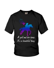 A girl and her horse it's a beautiful thing Youth T-Shirt thumbnail