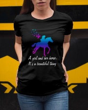 A girl and her horse it's a beautiful thing Ladies T-Shirt apparel-ladies-t-shirt-lifestyle-04