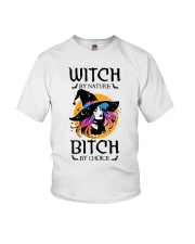 Witch By Nature Bitch By Choice Youth T-Shirt thumbnail
