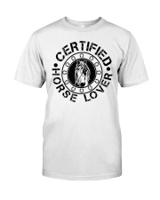 Horse Lovers Classic T-Shirt front