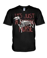 It Just a Fcking Horse V-Neck T-Shirt thumbnail