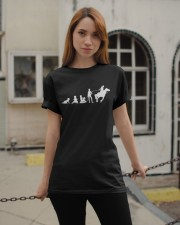 Evolution Life Is Better With Horses Classic T-Shirt apparel-classic-tshirt-lifestyle-19