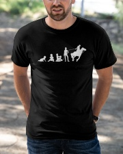 Evolution Life Is Better With Horses Classic T-Shirt apparel-classic-tshirt-lifestyle-front-50