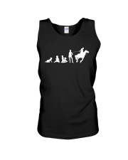 Evolution Life Is Better With Horses Unisex Tank thumbnail