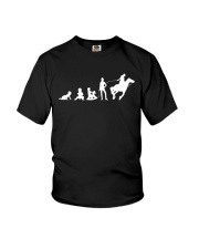 Evolution Life Is Better With Horses Youth T-Shirt thumbnail