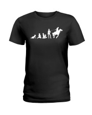 Evolution Life Is Better With Horses Ladies T-Shirt thumbnail