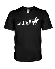 Evolution Life Is Better With Horses V-Neck T-Shirt thumbnail