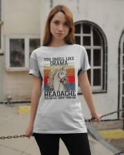 You Smell Like Drama And A Headache  Classic T-Shirt apparel-classic-tshirt-lifestyle-19