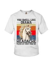 You Smell Like Drama And A Headache  Youth T-Shirt tile