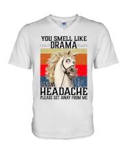 You Smell Like Drama And A Headache  V-Neck T-Shirt tile