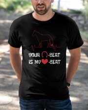 Your Beat Is My Beat Classic T-Shirt apparel-classic-tshirt-lifestyle-front-50