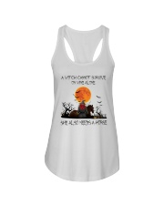 a witch cannot survive Ladies Flowy Tank thumbnail
