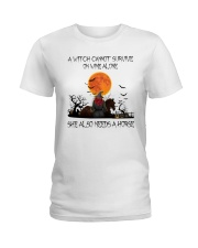 a witch cannot survive Ladies T-Shirt front