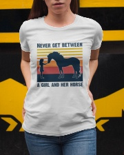 Never get between a girl and her horse Ladies T-Shirt apparel-ladies-t-shirt-lifestyle-04