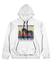 Never get between a girl and her horse Women's All Over Print Hoodie thumbnail