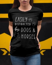 Easily Distracted By Dogs and Horses Ladies T-Shirt apparel-ladies-t-shirt-lifestyle-04