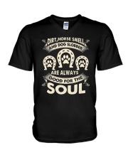 Dirt horse smell and dog slobber V-Neck T-Shirt thumbnail
