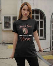 Just A Girl Who Loves Horses Riding Horseriding Classic T-Shirt apparel-classic-tshirt-lifestyle-19