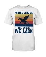 Horses lend us the wings we lack Classic T-Shirt thumbnail