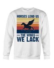 Horses lend us the wings we lack Crewneck Sweatshirt thumbnail