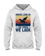 Horses lend us the wings we lack Hooded Sweatshirt thumbnail
