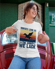 Horses lend us the wings we lack Ladies T-Shirt apparel-ladies-t-shirt-lifestyle-01