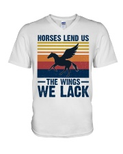 Horses lend us the wings we lack V-Neck T-Shirt thumbnail