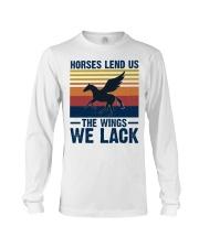 Horses lend us the wings we lack Long Sleeve Tee thumbnail
