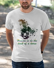 Heaven is on the back of a horse colors Classic T-Shirt apparel-classic-tshirt-lifestyle-front-50