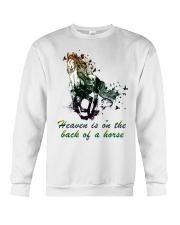 Heaven is on the back of a horse colors Crewneck Sweatshirt tile