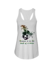 Heaven is on the back of a horse colors Ladies Flowy Tank tile