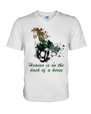 Heaven is on the back of a horse colors V-Neck T-Shirt tile