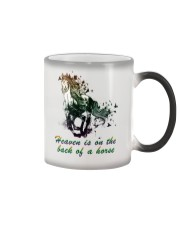 Heaven is on the back of a horse colors Color Changing Mug thumbnail