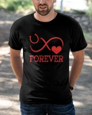 Forever Life Is Better With Horses Classic T-Shirt apparel-classic-tshirt-lifestyle-front-50