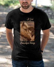 a girl and her horse it's a beautiful thing Classic T-Shirt apparel-classic-tshirt-lifestyle-front-50