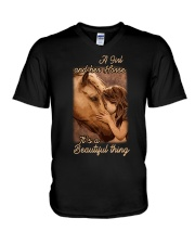 a girl and her horse it's a beautiful thing V-Neck T-Shirt thumbnail